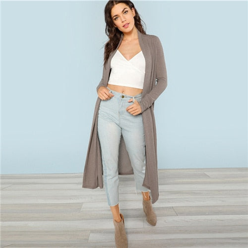 Long sleeve cardigan-Pretty woman-Gray-XS-Pretty woman
