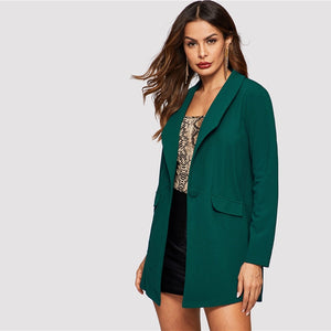 Green coat Fashion 2019-Pretty woman-Pretty woman