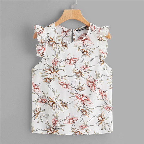 Summer top Botanical