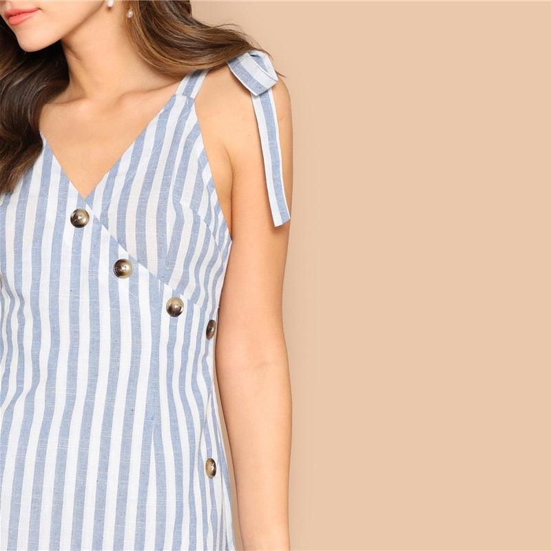 Summer mini dress striped