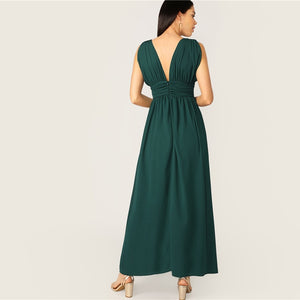 Glamorous green party long dresses