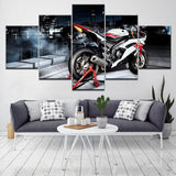 Tableau Moto Yamaha YZF R6 (5 Parties)