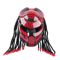 Casque Moto Predator Rouge - crazy riders
