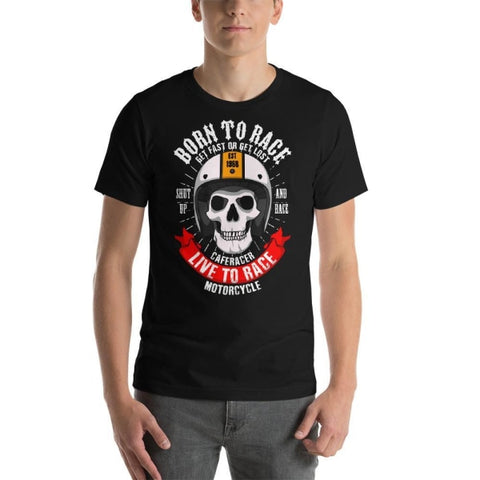 T-shirt Moto<br/> Born to Race - crazy riders
