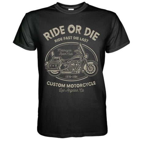 T-shirt Moto<br/> Ride Or Die - crazy riders