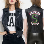 Gilet Biker en Cuir South Side (Femme)