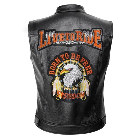 Veste biker live to ride - crazy riders