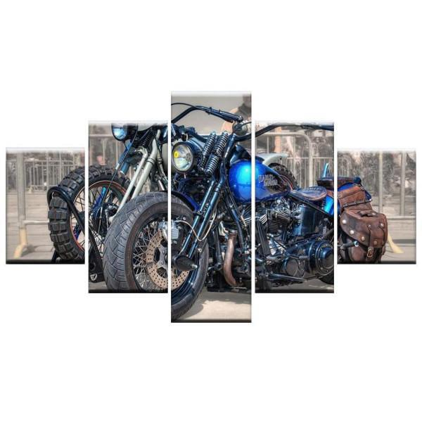 Tableau sur Toile Harley Davidson | Crazy riders