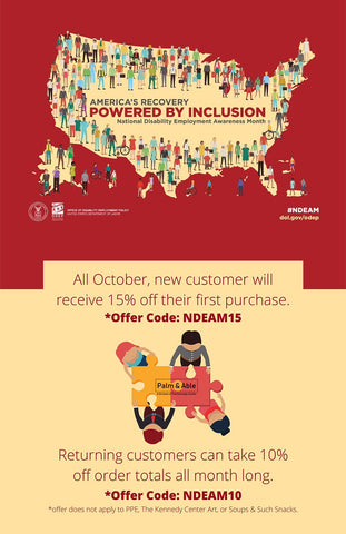 All October, new customer will receive 15% off their first purchase. Offer code NDEAM15. Returning customers can take 10% off order totals all month long. Offer code NDEAM10