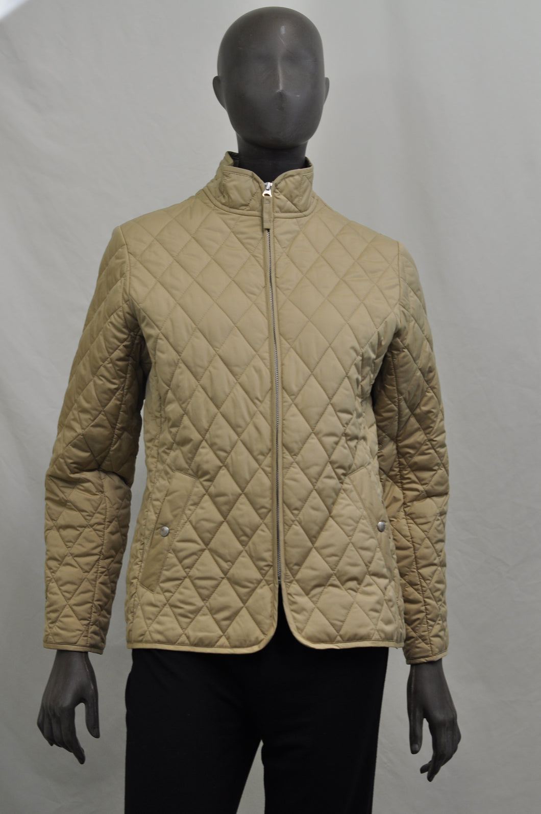 Lands End Khaki Quilted Jacket