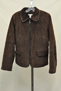 Charter Club Quilted Leather Jacket