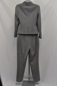 Anne Klein Black & White Hounds Tooth Pant Suit