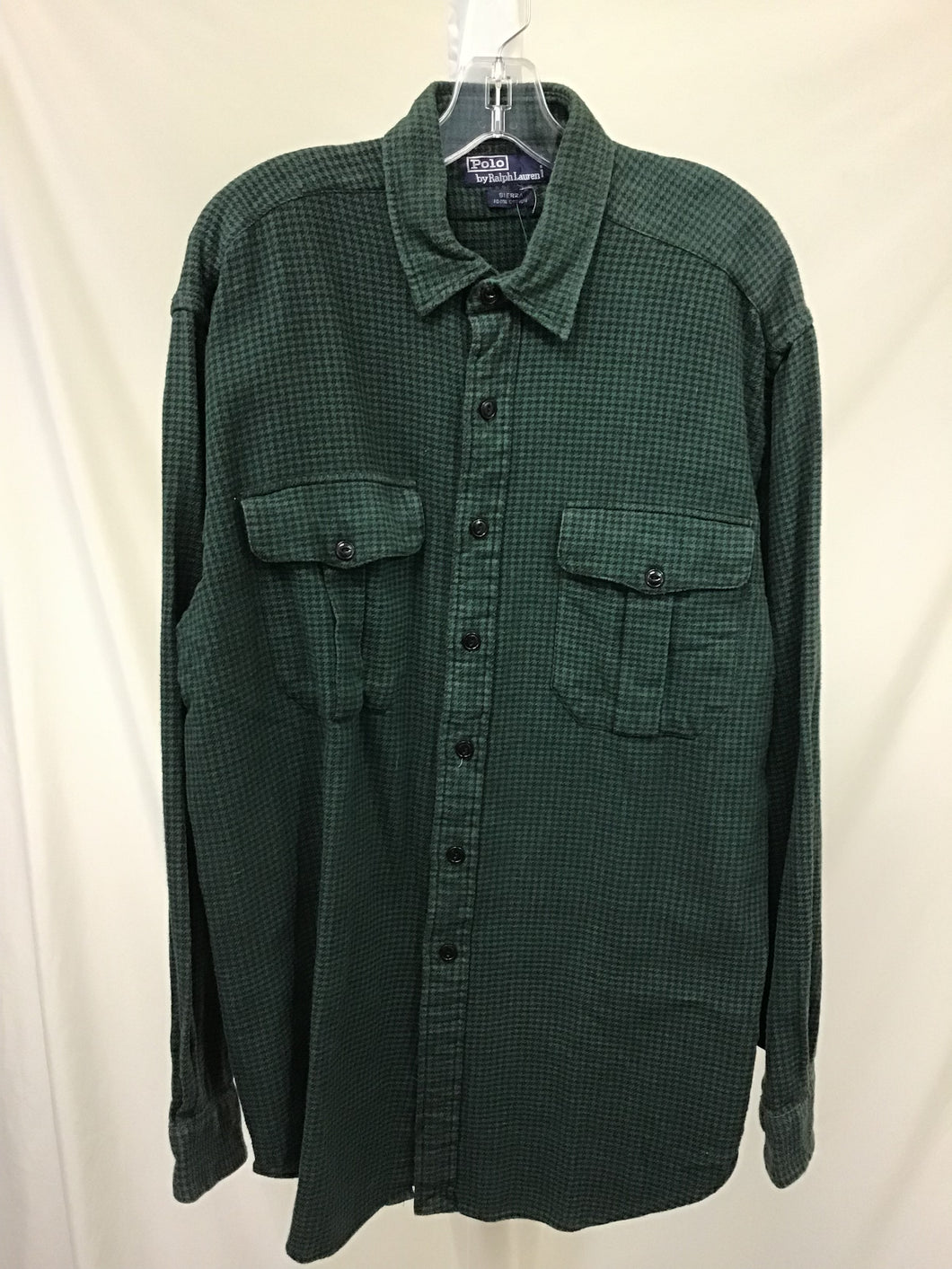 Polo Green and Black Flannel