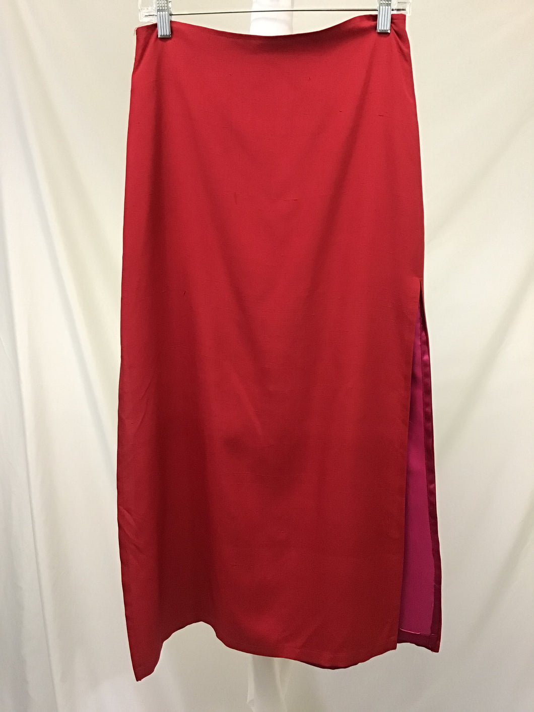 Delia Red Silk Skirt