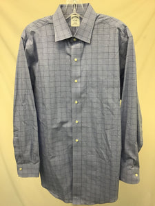 Brooks Brother Blue Plaid Dress Shirt