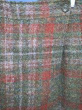 Load image into Gallery viewer, *Vintage* Simonne Lemaire Olive Plaid Skirt