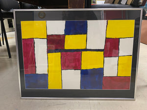 Colorful Squares- Framed
