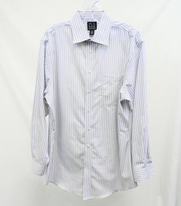 Jos. A. Bank Grey and White Striped Dress Shirt