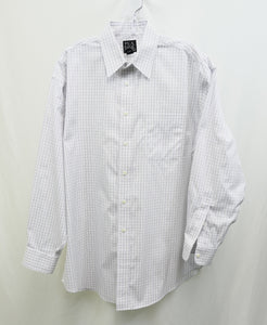 Jos A. Bank White Plaid Dress Shirt