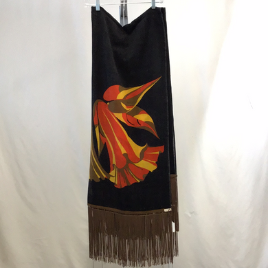 Multi Color Black, Orange, Yellow and Brown Scarf
