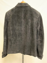 Load image into Gallery viewer, Back of Black Suede Jacket