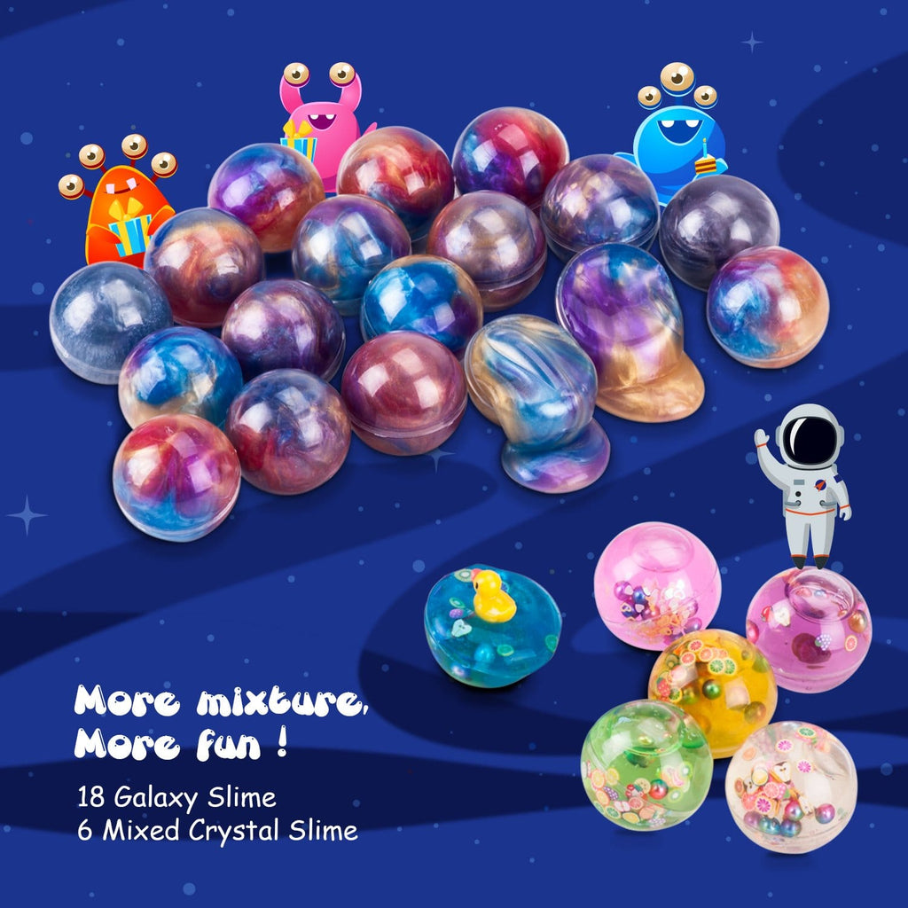 Joyjoz 24 Packs Party Favor Galaxy Putty Slime Balls - Joyjoz
