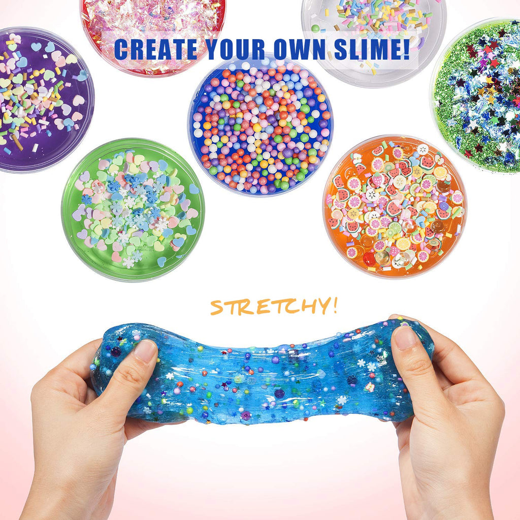 43 Packs DIY Slime Kit, Crystal Slime Kit - Joyjoz