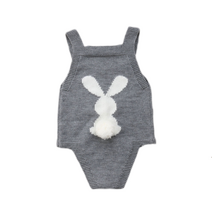 Adorable Bunny Knit Baby Romper