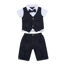 Load image into Gallery viewer, 2 Piece Formal Vest and Pant Bow-Tie Set