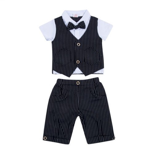 2 Piece Formal Vest and Pant Bow-Tie Set