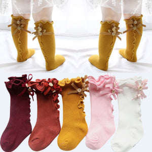 Toddler Girls Soft Cute Bow Stockings