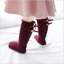 Load image into Gallery viewer, Toddler Girls Soft Cute Bow Stockings
