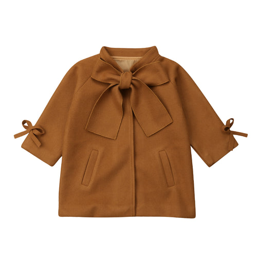 Bowknot Wool-Type Coat