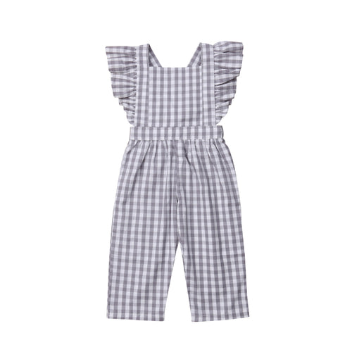 Gingham Plaid Spring Romper