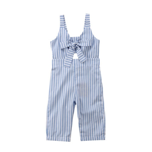 Blue Candy-Striped Overall