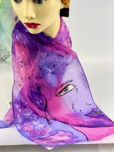 Load image into Gallery viewer, Tears of Joy, Hand Painted Silk Scarf
