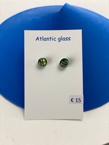 Recycled Glass Stud Earings