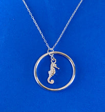 Load image into Gallery viewer, Sterling Silver Seahorse Necklace