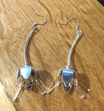 Sterling Silver Fushi Earrings