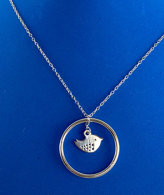 Sterling Silver Robin Necklace