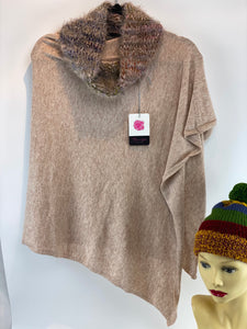 Ladies Poncho with Cowl Neck