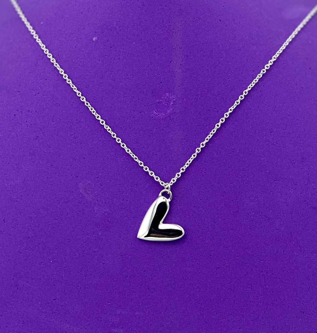 Silver Solid Heart