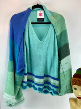Load image into Gallery viewer, Ladies Knitted Shrug Ocean Colour
