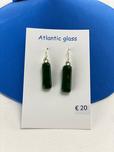 Recycled Glass Drop Earrings