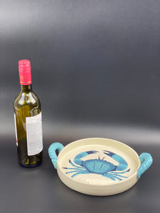 Crab Dish with Handles