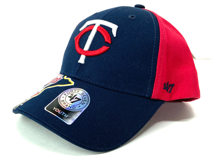 Minnesota Twins MLB Team Logo Cotton Youth Ball Cap (New) by '47 Brand
