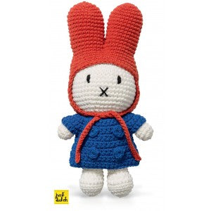 Miffy Handmade with her Blue Coat + Red Hat