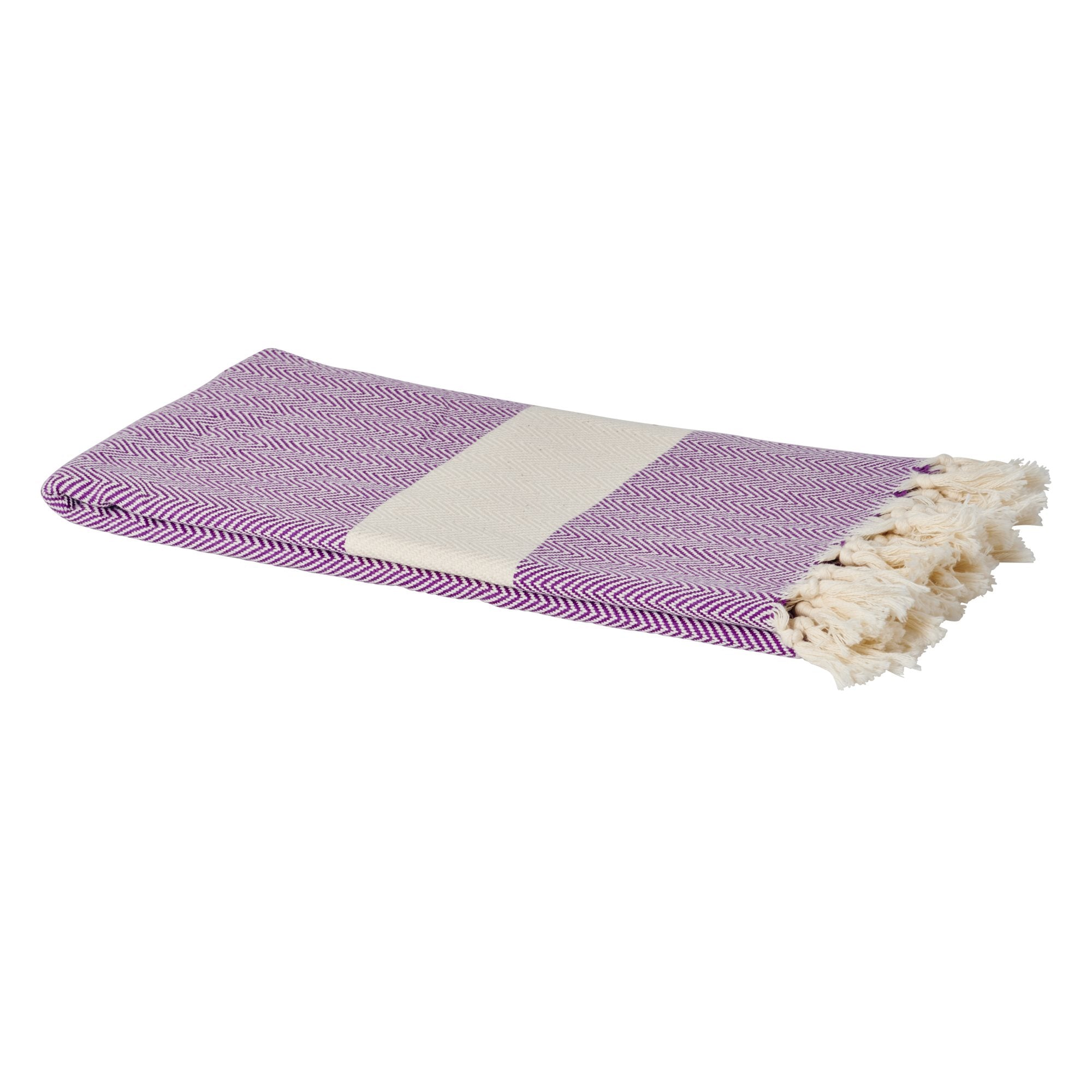 Soft Hamam Turkish Towel/Blanket - Purple