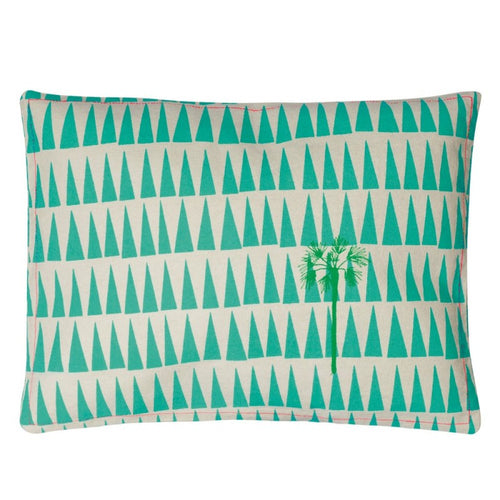Embroidered Cushion - Palm Tree