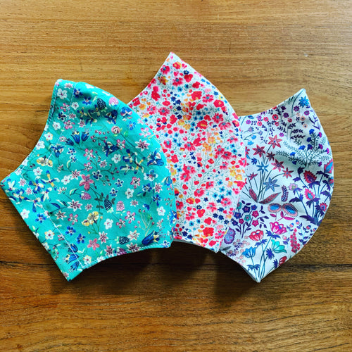 Handmade Reusable Face Mask (Liberty) - Donna Leigh Green